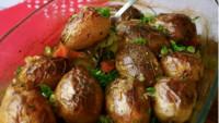 Чесночная картошечка в духовке