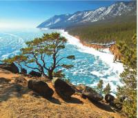 Есть в тайге сибирской нашей Больше моря чудо-чаша. Это – озеро Байкал В окруженье диких скал.  В. Степанов